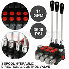 3 Spool 11 Gpm Hydraulic Control Valve Double Acting Tractor Loader With Joystick