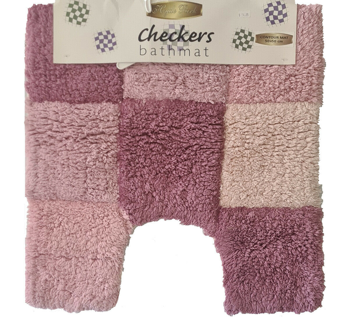 Checkers Contour Pink by Hyde Park 50 x 50cm. Cotton Handloom