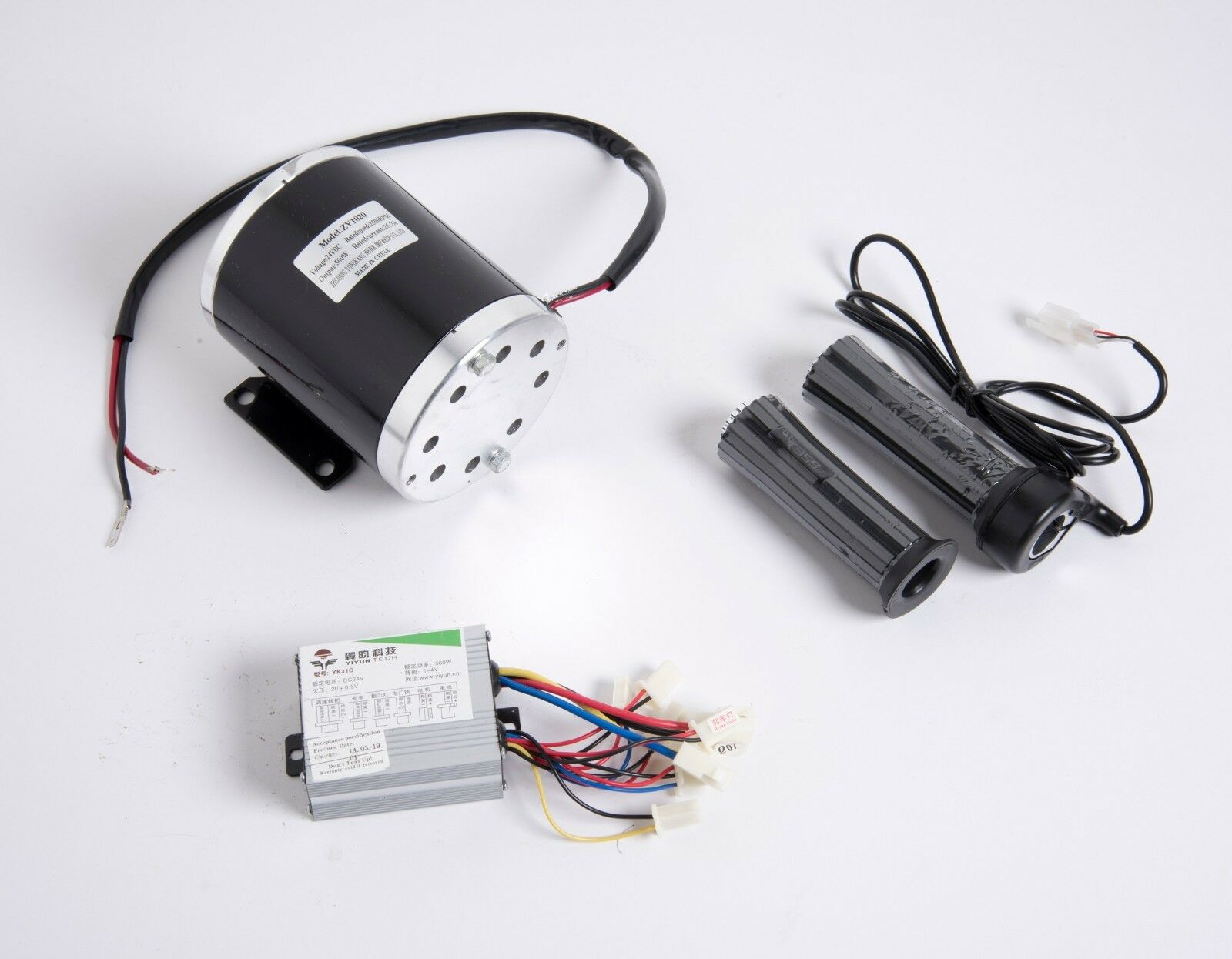 500W 24 V electric scooter motor or T8F kit w base+controller+Thumb Thredtle