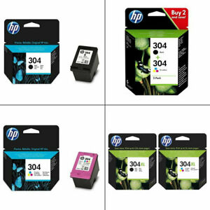 Genuine-HP-304-304XL-Black-Colour-Ink-Cartridges-For-DeskJet-2620-Printer