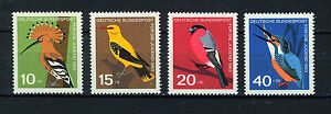 ALEMANIA-RFA-WEST-GERMANY-1963-MNH-SC-B388-B391-Birds