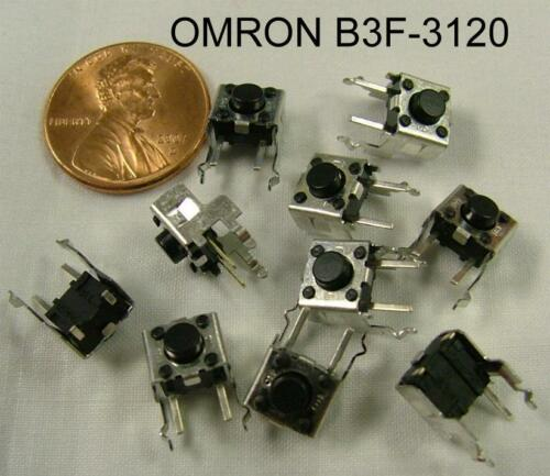 30 PC. OMRON PN B3F3120 MINI TACTILE SWITCH, NEW