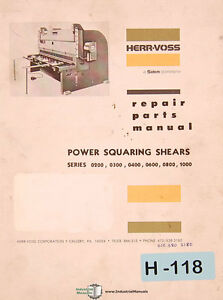 s l300 herr voss 0200, 0300 0400 0600 0800 1000, squaring shears repair  at mifinder.co