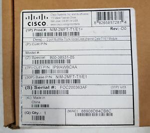 NEW-SEALED-Cisco-NIM-2MFT-T1-E1-2-port-Multiflex-Trunk-Voice-Clear-channel-Data