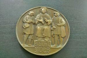 Rare-medaille-Metal-D-Mausolee-Saint-Yves-Erwan-Minihy-Treguier-Bretagne-1940