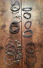 Large Lot of Metal Bangles & Bracelets - Free Shipping!