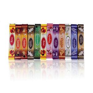 Mix-10-Indian-Incense-Sticks-Aromatherapy-Aroma-Perfume-Fragrance-Fresh-AirGO