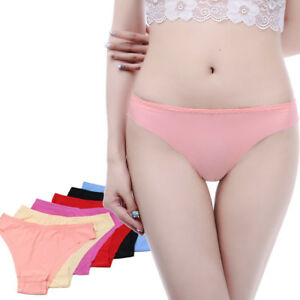 6Pcs-pack-Briefs-Women-Underwear-Cozy-Seamless-Ice-Silk-Lingerie-Panties-Thongs