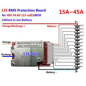 Protect-BMS-PCB-for-48V-54-6V-13S-18650-Li-Ion-Li-Polymer-Battery-Pack-15-45A-UK