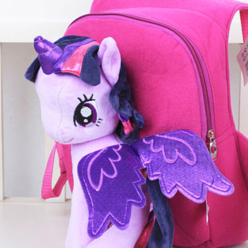 My Little Pony 3D Bag Plush Toy Soft Backpack Schoolbag Cartoon Kids