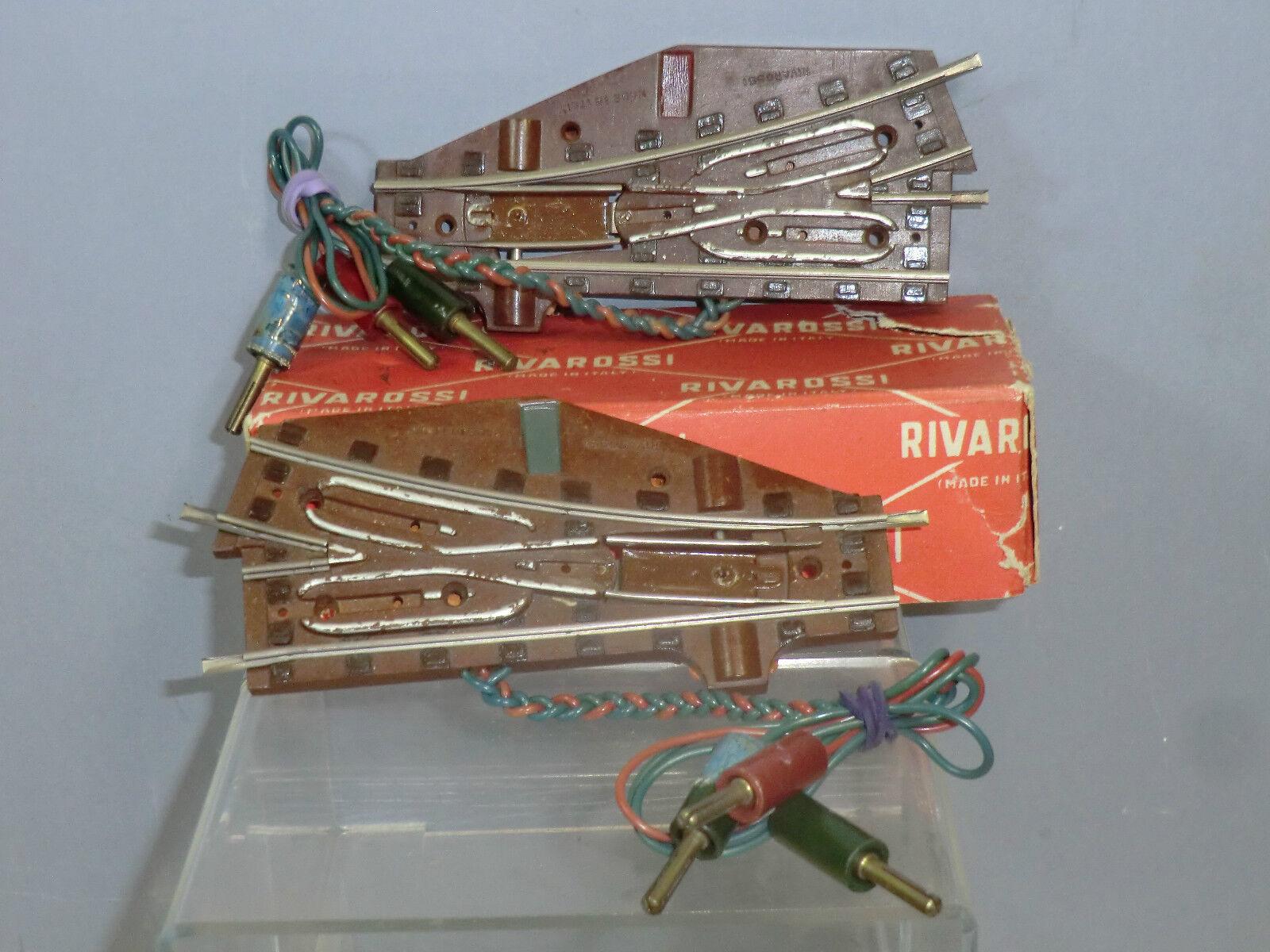 VINTAGE RIVAROSSI 1950's MODEL No.SD-SS 1000 2     LH & RH  ELECTRIC POINTS