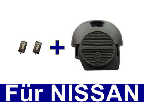 Schlüssel Gehäuse für NISSAN ALMERA TINO PRIMERA MICRA TERRANO X-TRAIL 2xTASTER