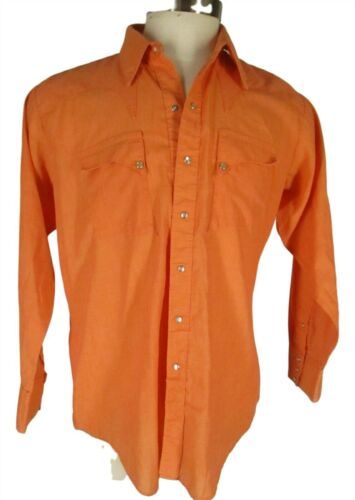Rockmount Ranch Wear Vintage Mens Orange Pearl Sna