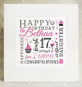 Image Is Loading Daughter Birthday Card Personalised 18th 19th 20th 21st