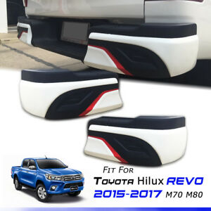 REAR-BUMPER-SKIRT-COVER-GUARD-2Pcs-TOYOTA-HILUX-REVO-SR5-M70-M80-2015-2016-17