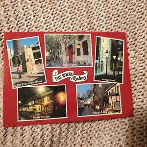 The-Rocks-Sydney-NSW-Australia-Vintage-Postcard