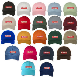 40de6f73fe726 Image is loading Feminist-Patch-Hat-Embroidered-Baseball-Cap-Baseball-Dad-