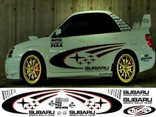 SUBARU WORLD RALLY KIT WITH SHADDOW (2 COL) WRX STI P1 IMPREZA GRAPHICS STICKERS