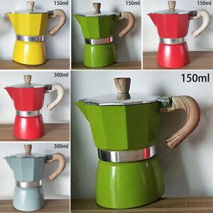 Italian Moka Espresso Coffee Maker Percolator Stove Top Pot With Highn Material