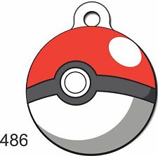 Cute Custom Personalized Pet ID tag for Dog and Cat ROUND Tags POKEMON Charm FUN