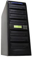 1-6 24x Burner Cd Dvd Disc Duplicator Multi Media Copier Recording Disk Drive