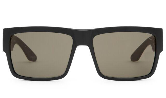 09462e32d0 Spy Optics Cyrus Soft Matte Black Sunglasses Happy Gray Green Polarized Lens