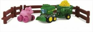 ERTL-John-Deere-FARM-ADVENTURE-PLAYSET-Set-with-Pig-Johnny-Tractor-amp-Friends