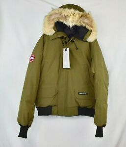 New-Mens-Canada-Goose-Chilliwack-Bomber-Military-Green-Size-L-Large-Jacket-Coat