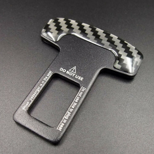 Seat Belt Warning Alarm Buckle Insert Cancel Plug Clip Clasp Stopper Eliminator