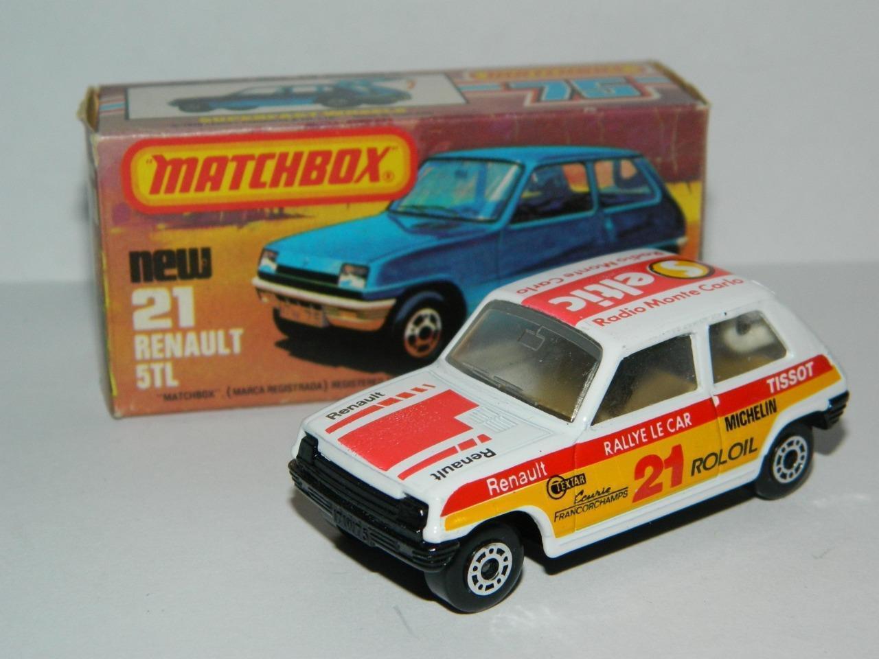 MATCHBOX LESNEY SUPERFAST VINTAGE RENAULT 5 TL No.21 Comme neuf en K BOX 1982