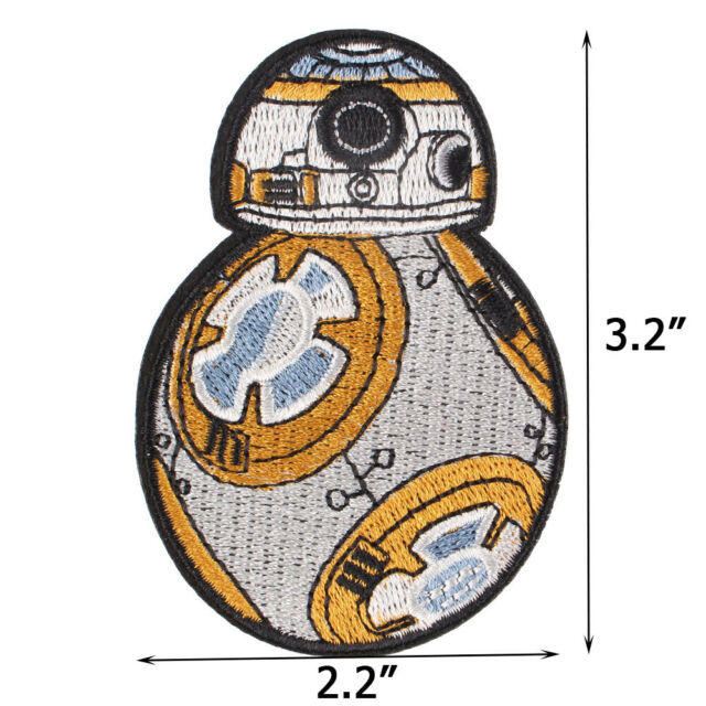 7be2a25c5370 Star Wars Robot BB-8 Embroidered Iron ON Patch for Clothes Badge DIY 8.8x6cm