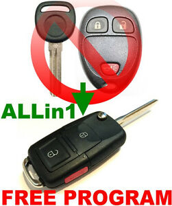 Details about VW ALLin1 STYLE FLIP KEY REMOTE FOR GM MODEL CHIP IMMOBILIZER  TRANSPONDER FOB NP