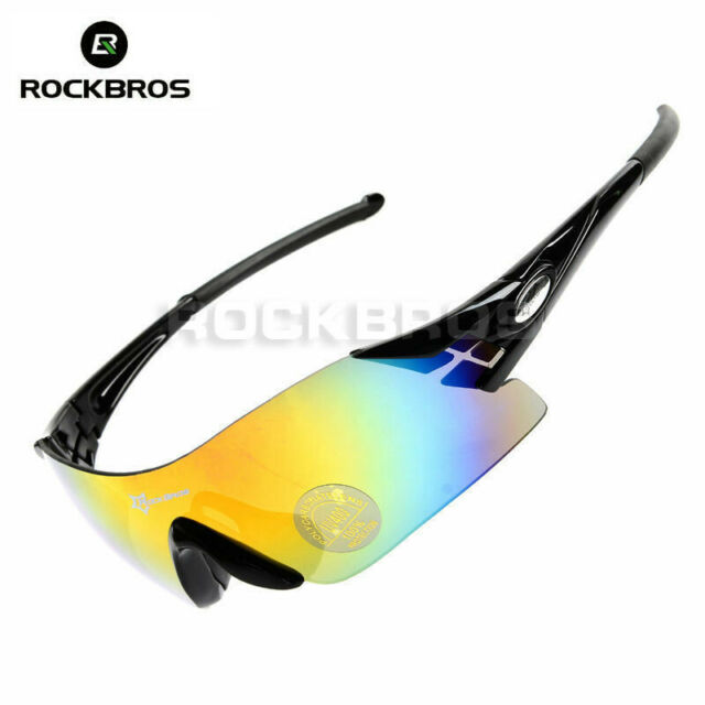ROCKBROS Cycling Sunglasses Bike Bicycle 100% UV400 Sports Glasses Goggles Black