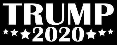 DONALD TRUMP 2020 Vinyl Decal Sticker RNC Car Wall President Campaign White