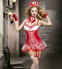 Quality Designer Sexy Nurse Bra Set Uniform Costumes Fancy Dress Lingerie