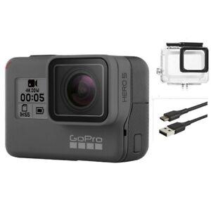 Gebrauchte-GoPro-Hero-5-Black-Waterproof-Action-4k-Ultra-HD-Kamera-Touchscreen-Case