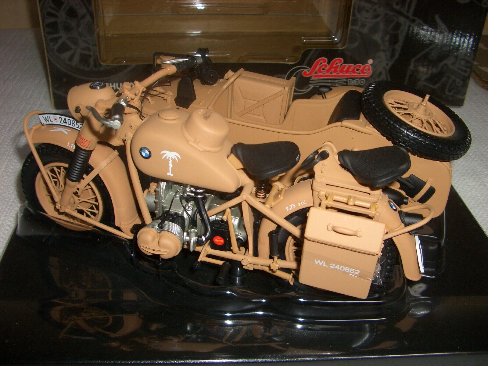 SCHUCO bmw r75 Nº 06560 Allehommed  Afrique Corps Rommel Wehrmacht 1 10 - RARE  magasin discount