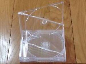 25-MAXI-SINGLE-CD-Jewel-Case-6-mm-Slim-Clair-plateau-nouveau-vide-remplacement-HQ-AAA