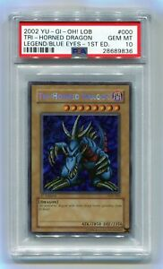 Yu-Gi-Oh-1st-Edition-Tri-Horned-Dragon-LOB-000-Secret-Rare-PSA-10-1st-Run-LOB