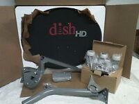 Dish Network Hd Satellite Dish / Western Arc 1000.2 Turbo Fta + Signal Meter