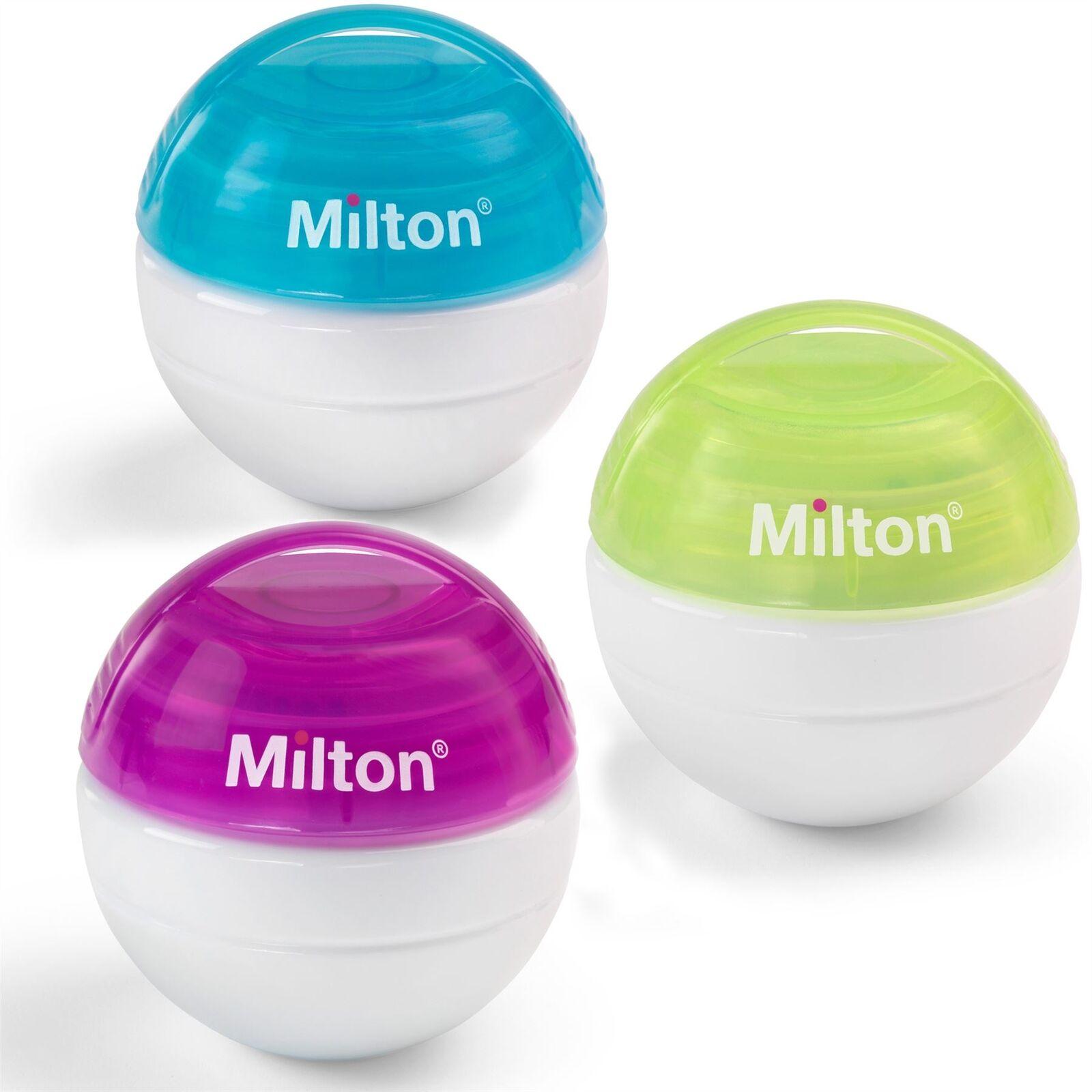 Milton Tragbarer Mini Schnuller Sterilisator /& Tabletten Alle Farben Erhältlich