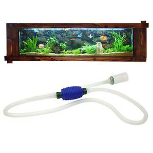 Aquarium fish tank gravel water filter cleaner syphon for Fish tank gravel cleaner