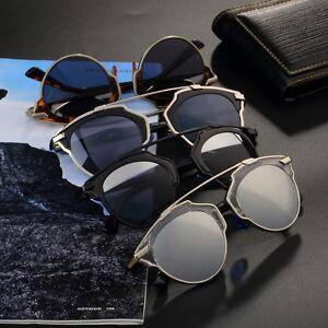 Mirrored-Lenses-So-Real-Women-Sunglasses-Designer-Cat-Eye-Vintage-HC-BNG