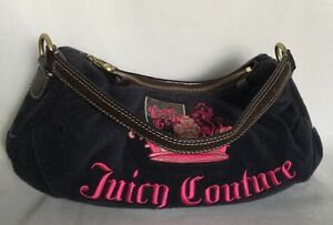 JUICY-COUTURE-Leather-Fabric-Shoulder-Bag-Handbag