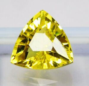Natural-CERTIFIED-Trillion-Cut-10-Cts-Yellow-Sapphire-Loose-Gemstone