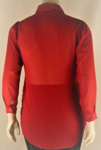Women/'s Sheer Chiffon Full Sleeve Collar Shirt Blouse Tunic Plus Size 14-32