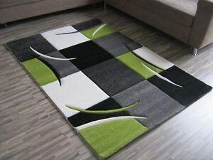Teppich Grün Weiß