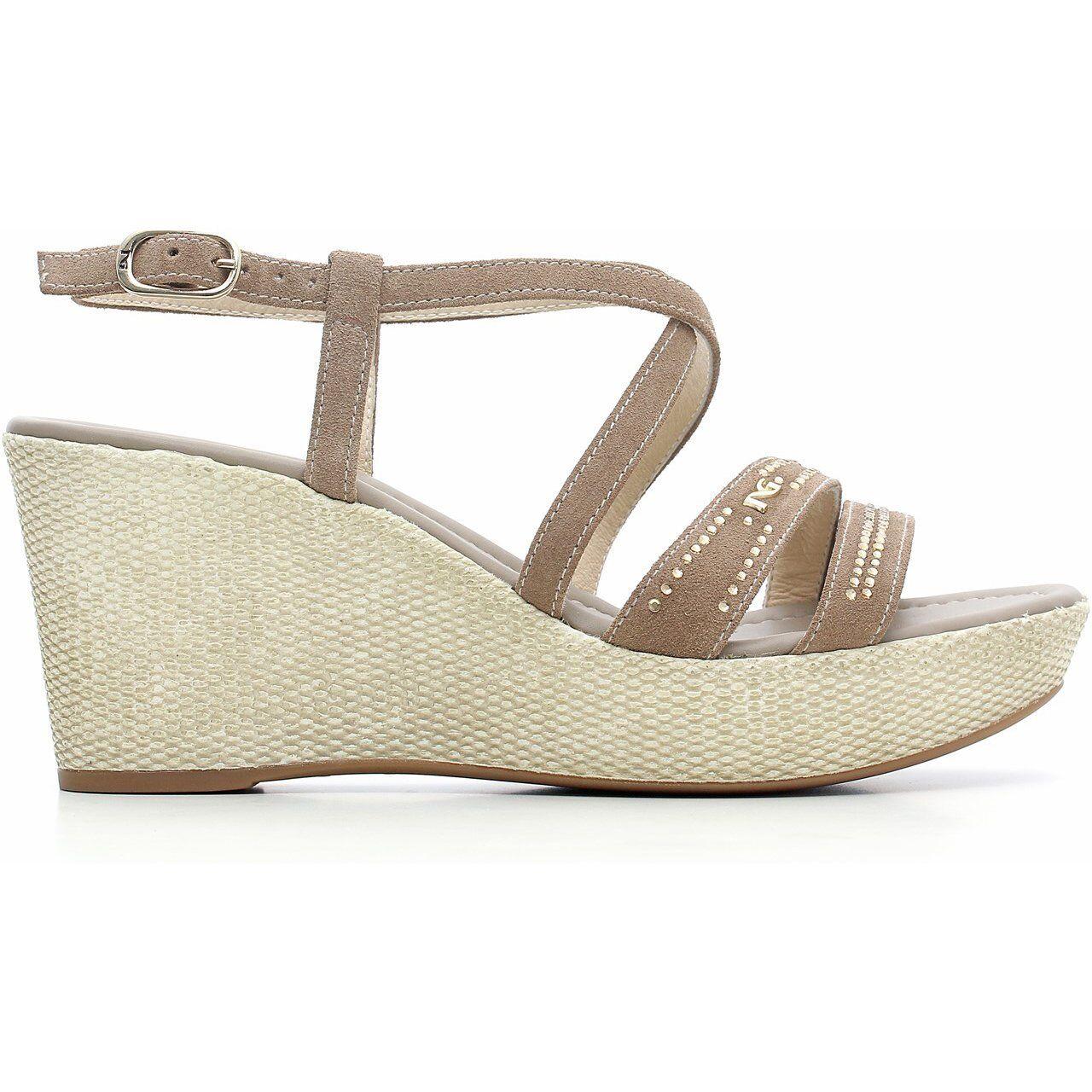 Sandalo NeroGiardini P615624D P615624D P615624D nuova collezione estate zeppa e plateau 057d90