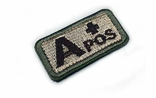 Morton Home Military Blood Type Positive Tactical Patch