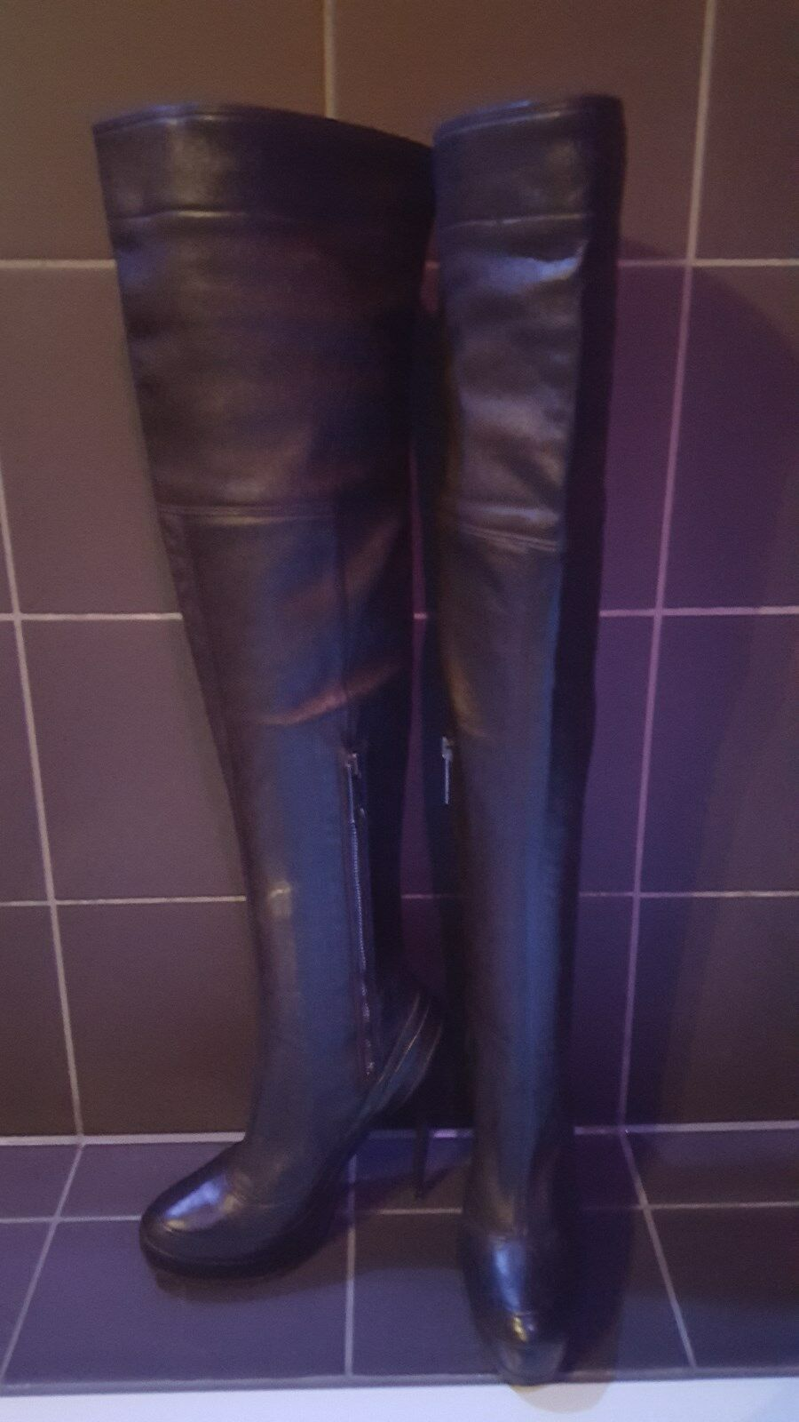 Overknee Overknee Overknee Stiefel neuwertig Burberry Made in  Gr. 36 7fac31
